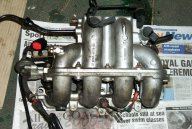 MK5 Escort 1600i manifold rear view.